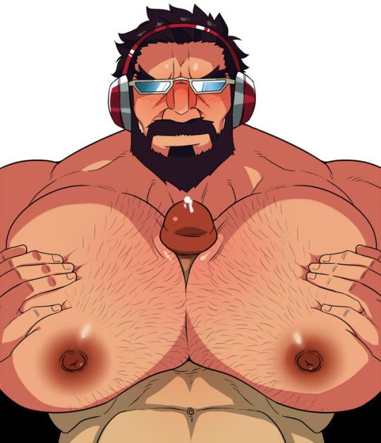 holes do men nipple have She hulk in the shower