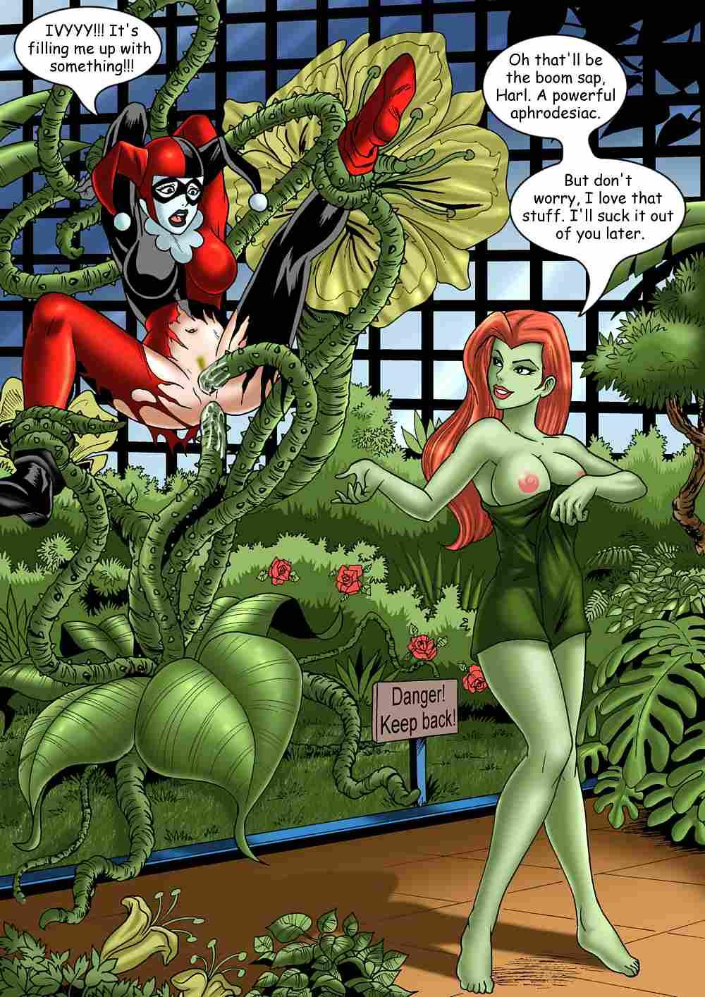harley poison lesbian quinn ivy Madan no ou to senki