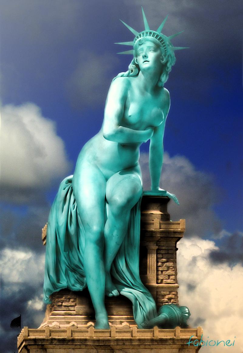 liberty statue of Re:zero kara hajimeru isekai seikatsu emilia