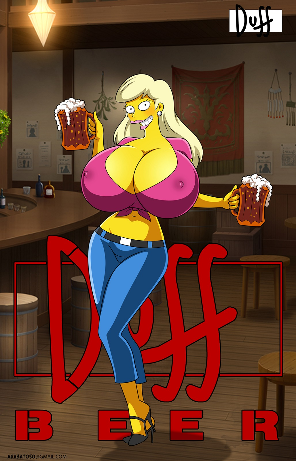 the marge simpsons from naked Caught in the act naked