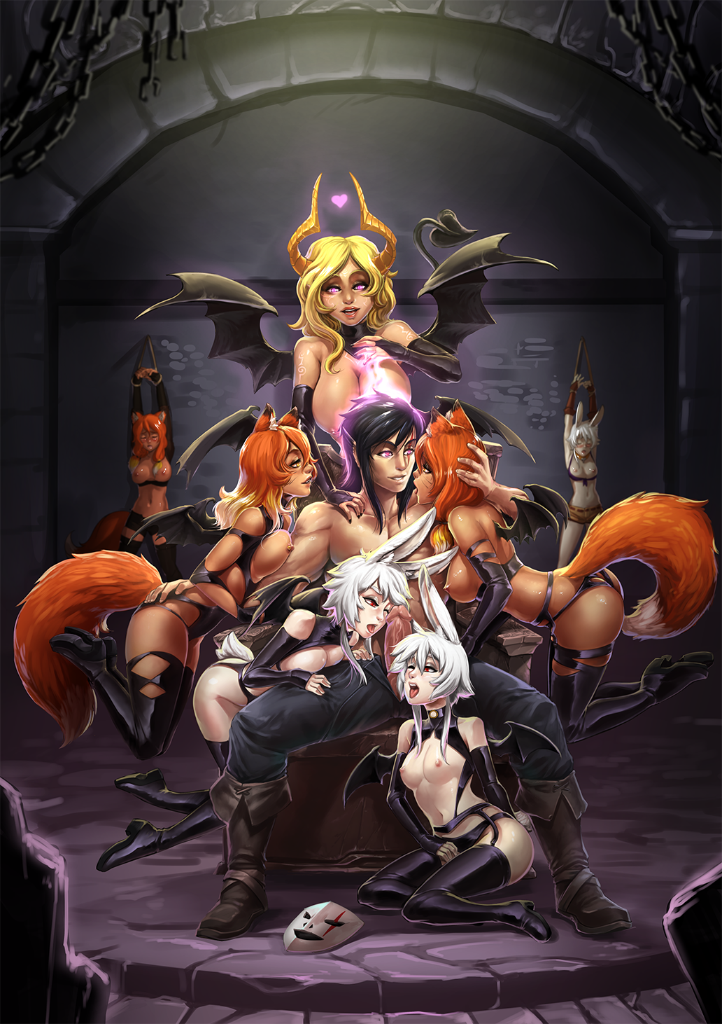 and female fanfiction kyuubi naruto harem Brandy and mr whiskers naked