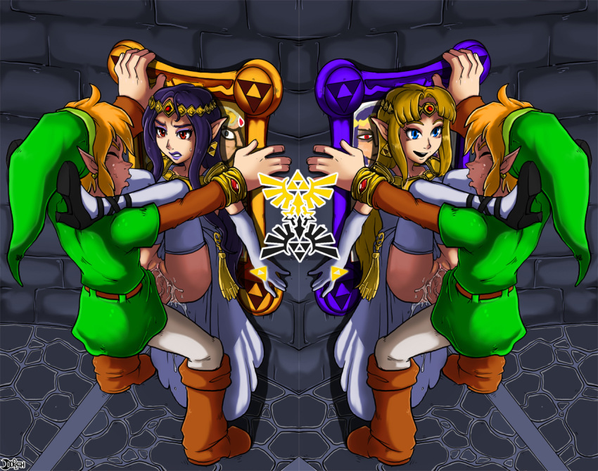 worlds link blue between tunic Aria crypt of the necrodancer