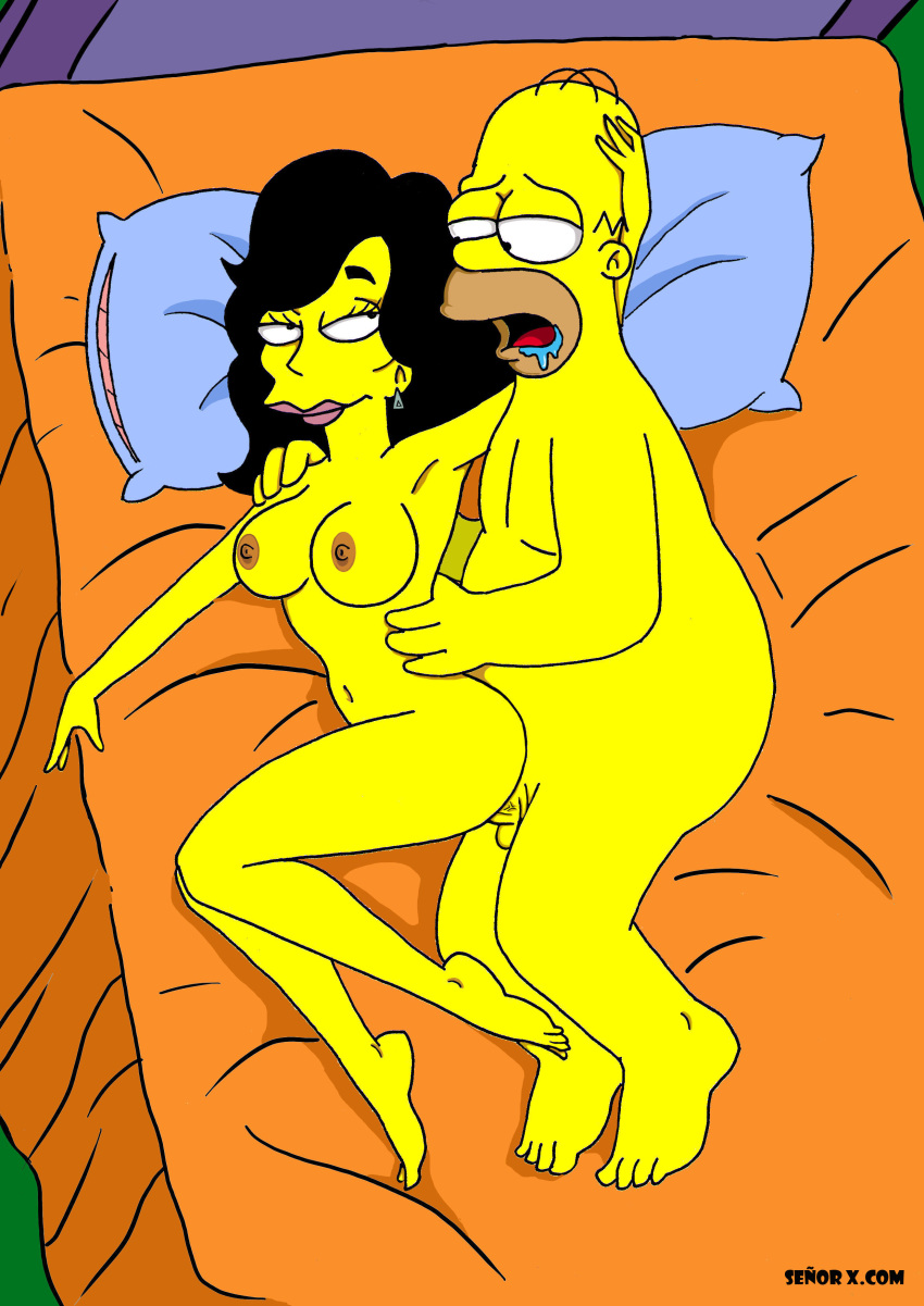 marge simpsons from the naked Metal gear solid 5 flaming buffalo