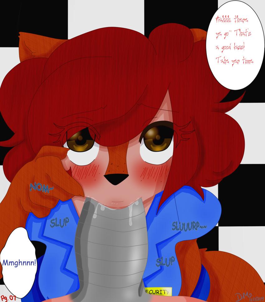 x fnaf foxy mangle comic April o neil tmnt 2013