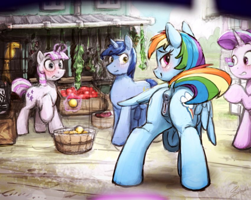 shimmer dash rainbow and sunset Chika from five nights at freddy's